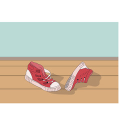 sneakers lie in the room vector image