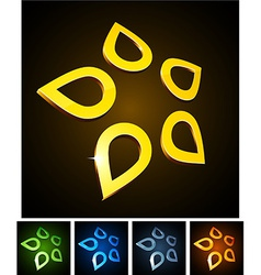 Star vibrant emblems vector image