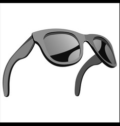 sunglasses with mirror lenses vector image