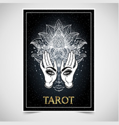 Tarot reader fortuneteller spiritual coach vector