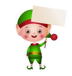 the character christmas cute elf vector image