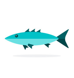 Tropical fish tuna flat isolated vector