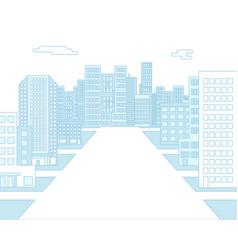 urban background landscape city real estate flat vector image