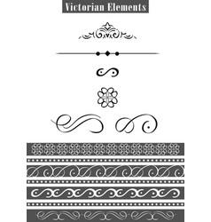 victorian elements vector image