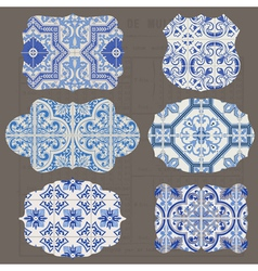 Vintage Tiles Design elements for scrapbook vector image