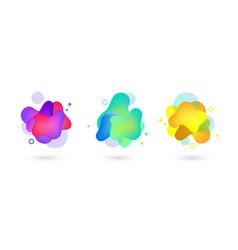 Vivid gradient spots set trendy vibrant vector