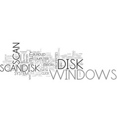 what is scan disk text word cloud concept vector image