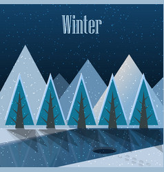 winter new year postcard vector image