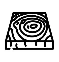 Wooden floor line icon vector