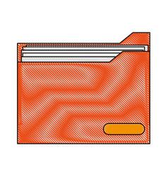 color blurred stripe folder with documents inside vector image vector image