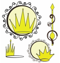 Crowns collection vector image vector image