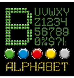 green battons letters alphabet p2 vector image vector image