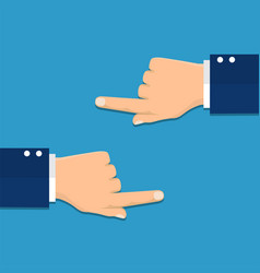Hand with pointing finger left and right side vector
