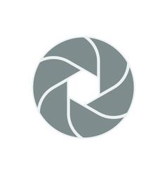 Iris diaphragm camera shutter icon vector