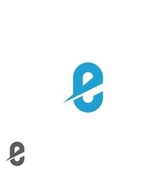 Letter E logo blue mockup direction web emblem vector image vector image