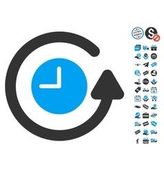 Restore clock icon with free bonus vector