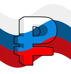 Russian ruble Sign of Russian money Flag of Russia vector image