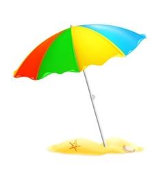 Beach parasol vector image