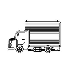 delivery service shipping truck van of rides vector image