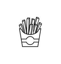 french fries line icon food drink elements vector image