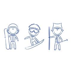 funny cute boys vector image