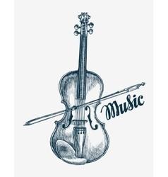 Hand drawn violin Sketch vector image vector image