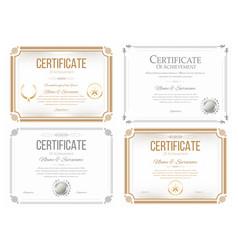 set of certificates of appreciation award vector image vector image