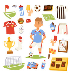 soccer player man icons vector image vector image
