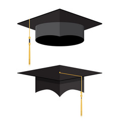 academic graduation cap student hat vector image