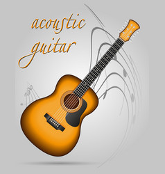 acoustic guitar musical instruments stock vector image vector image