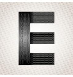 Letter metal ribbon - E vector image