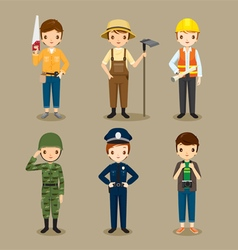 Man People With Different Occupations Set vector image