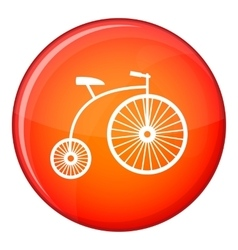 Penny-farthing icon flat style vector image
