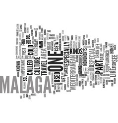 the perfect opportunity to admire malaga text vector image vector image