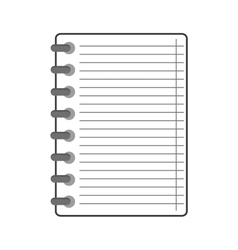 wire notebook icon vector image