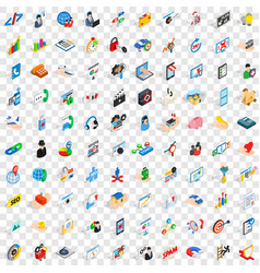 100 development icons set isometric 3d style vector