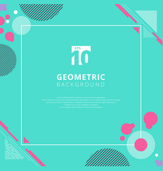 Abstract pink circle geometric pattern design vector