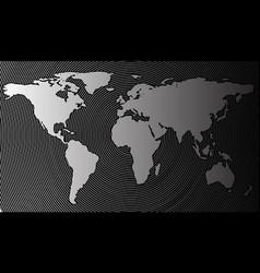 abstract world map on a background of cylindrical vector image