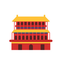 Ancient chinese architecture icon of pagoda vector