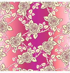 beautiful pink and vintage yellow seamless pattern vector image