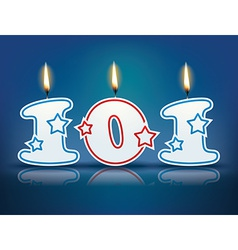 Birthday candle number 101 vector image