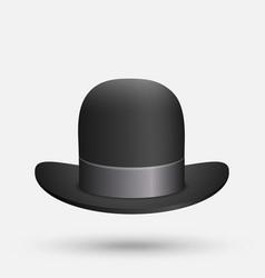 Black bowler hat vector