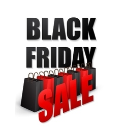 Black friday sales typographic poster vector image