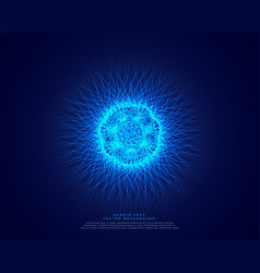 blue abstract science background with glowing vector image
