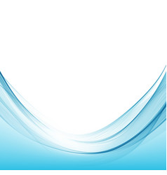 Blue wave curve abstract background vector
