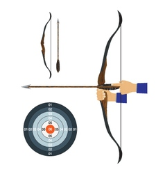 Bow arrow and target vector image