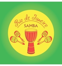 Brazilian Carnival logo and emblem vector image