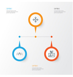 Business icons set collection of coaching vector