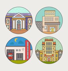 city architecture vector image