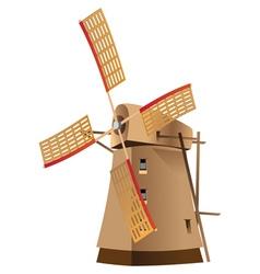 Classic windmill vector